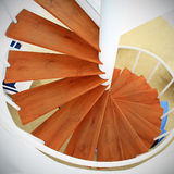 Screw wooden stair case Royalty Free Stock Images