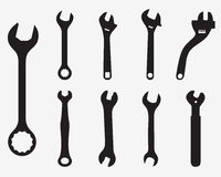 Screw wrench Royalty Free Stock Image