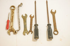 and wrench rusty royalty free stock photos