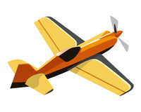 Screw yellow plane Royalty Free Stock Images