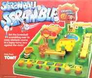 Screwball Scramble Board & Traditional Games by Tomy toys. BANGKOK, THAILAND - MARCH 31, 2017 : Screwball Scramble Board & Traditional Games by Tomy toys royalty free stock photography