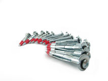 Screwbolts de point d'attache Image stock