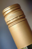 Screwcap on wine bottle Royalty Free Stock Photos