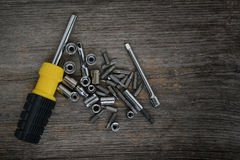 Screwdriver with allen and bits Stock Photography