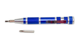 Screwdriver, as a pen, with replaceable tips and separate tip Royalty Free Stock Images