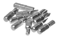 Screwdriver Bit Replacement Set Macro Isolated Stock Images