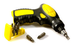 Screwdriver and bits Royalty Free Stock Images