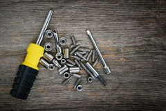 Screwdriver and bits Royalty Free Stock Photo