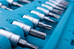 Screwdriver bits Royalty Free Stock Photo