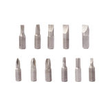 Screwdriver bits set over white isolated background Stock Image