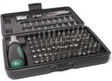 Screwdriver bits set Stock Images