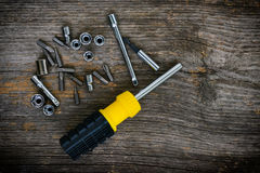 Screwdriver and bits Stock Image