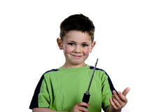 Screwdriver boy Royalty Free Stock Photos