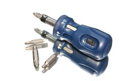 Screwdriver & Drill Bits Royalty Free Stock Photography