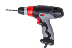 Screwdriver drill isolated on a white background Stock Image