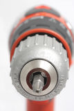 Screwdriver electric. Red Drill-screwdriver electric storage royalty free stock photos