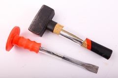 Screwdriver and Hammer Royalty Free Stock Image