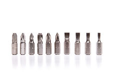 Screwdriver head set Royalty Free Stock Image
