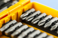 Screwdriver insert bits Royalty Free Stock Image