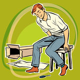 Screwdriver male furniture designer Stock Image