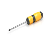 Screwdriver over white. Royalty Free Stock Photos