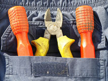 Screwdrivers pliers Stock Photo
