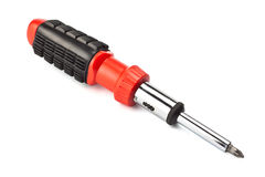 Screwdriver with removable bits Royalty Free Stock Photography