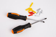 Screwdriver set. On white background Stock Images