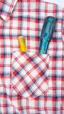 Screwdriver in shirt pocket Royalty Free Stock Photography