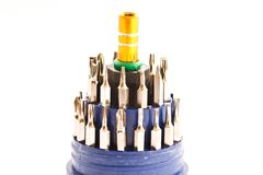 Screwdriver tips Royalty Free Stock Images