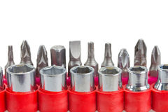 Screwdriver tips Royalty Free Stock Photo