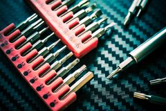 Screwdriver and Tips Tools Royalty Free Stock Images