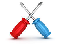 Screwdriver tools support interface icon Stock Photo