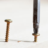Screwdriver wraps screw Royalty Free Stock Photography