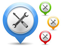Screwdriver and Wrench Icon Royalty Free Stock Image