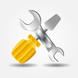 Screwdriver and Wrench icon vector illustration Stock Photo