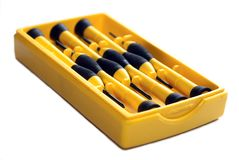 Screwdrivers box Stock Photos