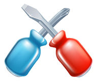 Screwdrivers crossed tools icon vector illustration