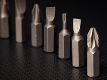 Screwdrivers heads royalty free stock image