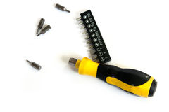 Screwdrivers. Multipurpose screwdriver set Convenient to carry stock photography