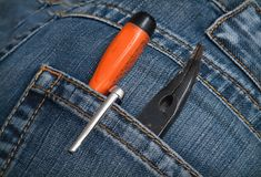 Screwdrivers pliers Royalty Free Stock Images