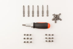 The screwdrivers stock photography