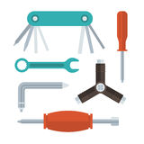 Screwdrivers and Wrenches Set Stock Photo