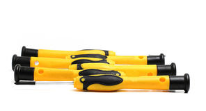Screwdrivers with yellow and black handle Stock Image