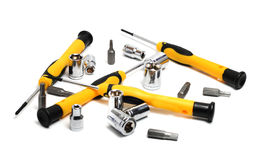 Screwdrivers with yellow and black handle Stock Photo