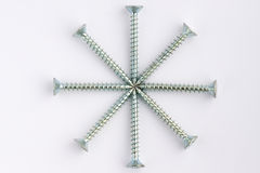 Screws. Star made of several screws royalty free stock images