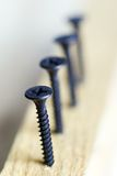 Screws. Twirled on a diagonal stock photography