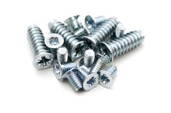 Screws. On a white background Royalty Free Stock Images