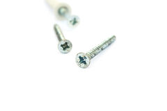 Screws. Isolated on white background Royalty Free Stock Images