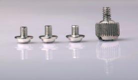 Screws. Close up big and small screws Stock Photography